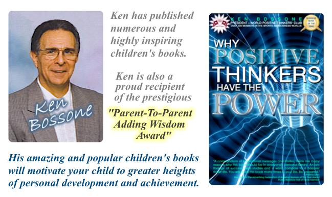 Author Ken Bossone. A positive thinker.